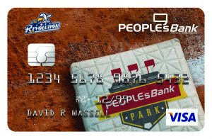Peoplesbank park visa with baseball field plate background