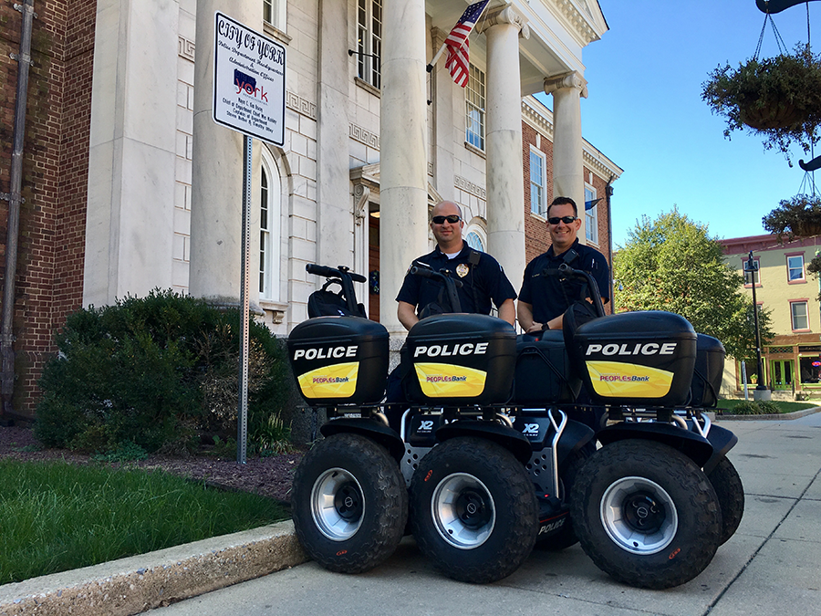 york city police department segways courtesy of peoplesbank