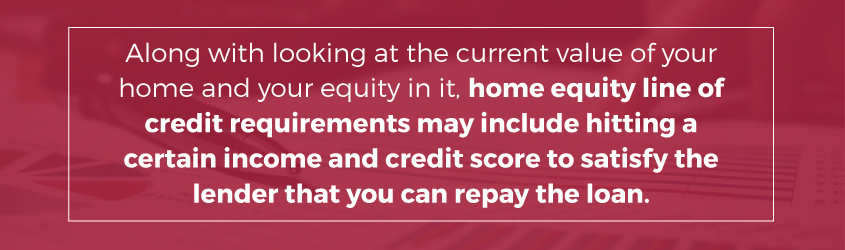 income credit score home equity