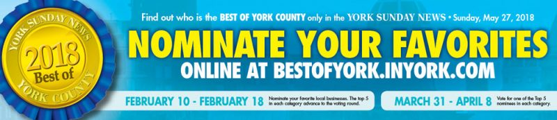 Nominate Us for Best of York 2018