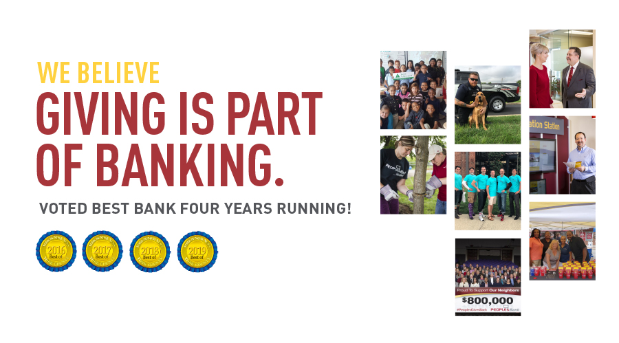 PeoplesBank Voted Best Bank Four Years in a Row