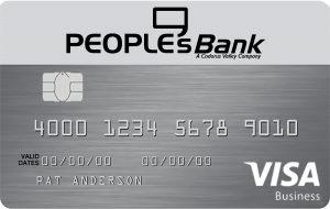 Photo of PeoplesBank VISA Business Credit Card