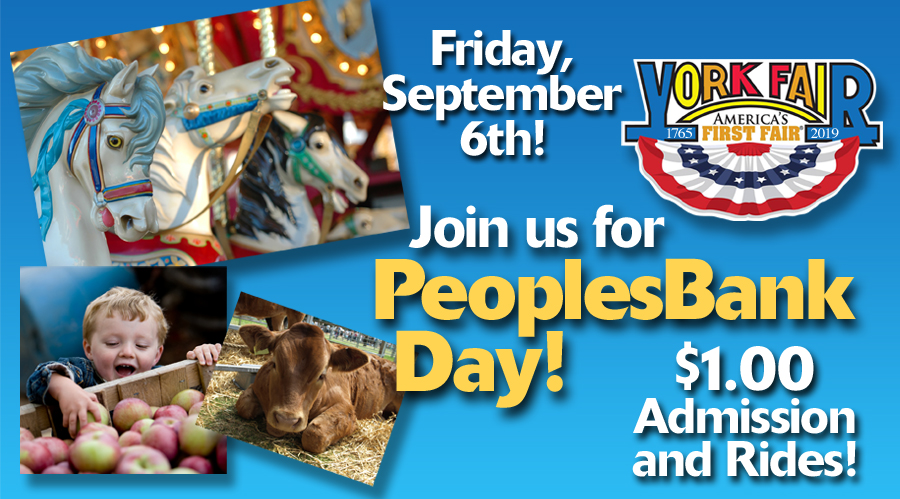 PeoplesBank Day at the York Fair 2019