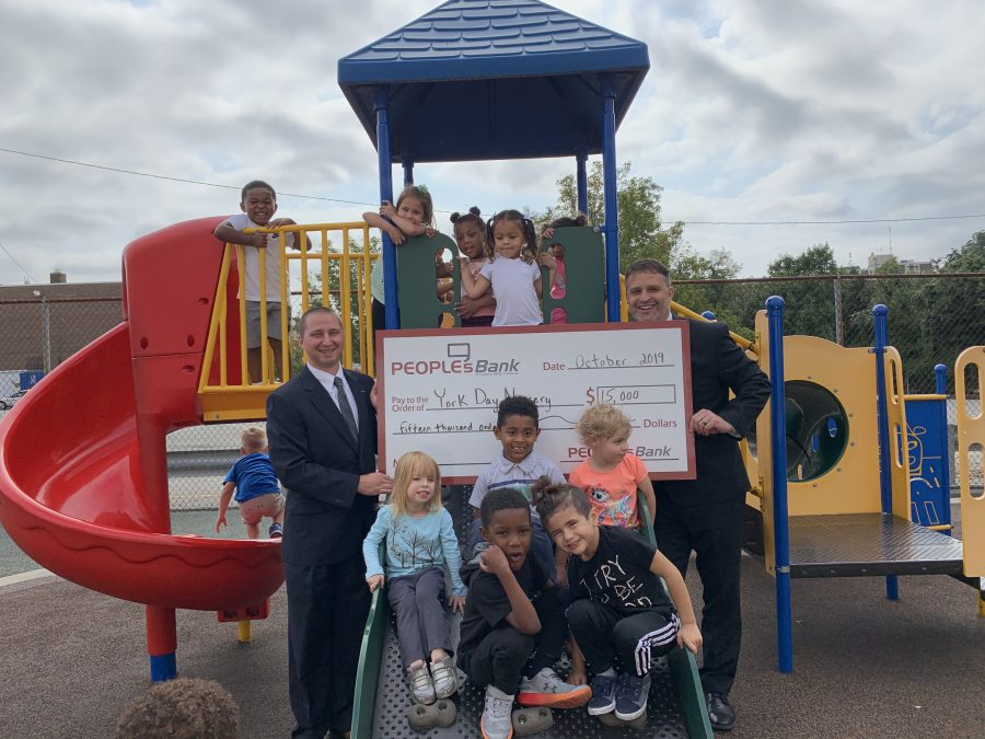 PeoplesBank Employees With Check to York Day Nursery