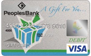 Visa Gift Card Peoplesbank